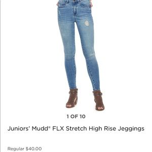 JUNIORS MUDD FLX STRETCH HIGH RISE JEGGINGS
